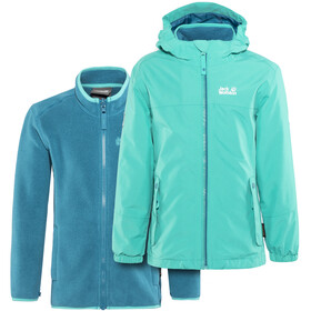 Jack Wolfskin G Iceland 3In1 Jacket Kids aquamarine